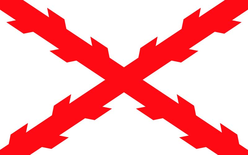 Bandera con la Cruz de Borgoña