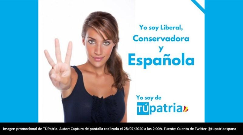 Imagen promocional de TÚPatria. Autor: Captura de pantalla realizada el 28/07/2020 a las 2:00h. Fuente: Cuenta de Twitter @tupatriaespana