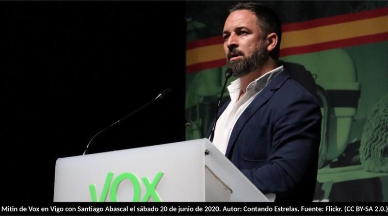 Mitin de Vox en Vigo con Santiago Abascal el sábado 20 de junio de 2020. Autor: Contando Estrelas. Fuente: Flickr. (CC BY-SA 2.0.)