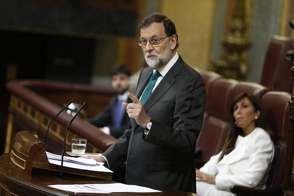 Rajoy asiste al debate de la moción de censura al Gobierno. Autor: La Moncloa. Fecha: 31/05/2018. Fuente: Flickr, bajo licencia CC BY-NC-ND 2.0