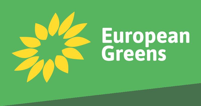 Logo European Greens desde 2017. Autor: Partido de los verdes europeos. Fecha: 01/12/2018. Fuente: Wikipedia.
