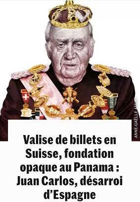 """Publirreportaje de Le Monde – """"Maleta de billetes en Suiza, fundación opaca en Panamá: Juan Carlos, angustia en España"""". Autor: Anne Caelle Amiot. Fecha: 27 de Mayo de 2020. Fuente y propietario: LeMonde"""