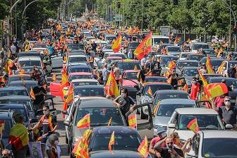 3. Manifestación organizada por Vox contra el Gobierno La caravana por la libertad. Autor: Vox España, 23/05/2020. Fuente: Flickr.