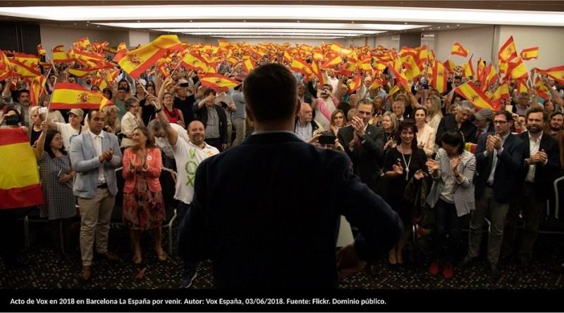 1. Acto de Vox en 2018 en Barcelona La España por venir. Autor: Vox España, 03/06/2018. Fuente: Flickr
