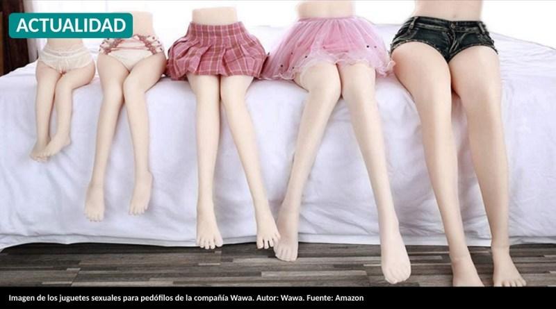 Imagen de los juguetes sexuales para pedófilos de la compañía Wawa. Autor: Wawa. Fuente: Amazon