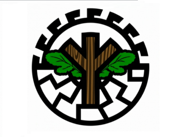 Perversiones ideológicas. Símbolo de Green Line Front, grupo ecofascista. Autor: Desconocido. Fuente: Szturm.com.pl