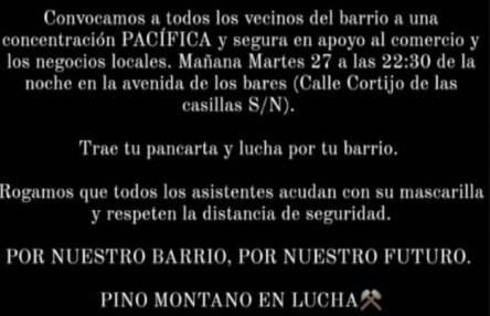 Cartel anunciado la convocatoria en Pino Montano