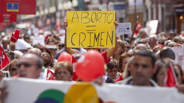 Protesta contra le ley del aborto en 2010, en Gran Canaria. Autor y fuente: ElDiario.es (CC BY-NC 2.0.)