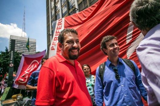 Guilherme Boulos y Marcelo Freixo en la ocupación de São Paulo, Brasil. Autor: Mídia NINJA, 17/02/2017. Fuente: Flickr. (CC BY-SA 4.0).