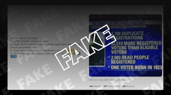 Imágenes estadísticas sobre un supuesto fraude. Autor: captura de pantalla hecha el 10/11/2020 a las 17:14. Fuente: Newtral