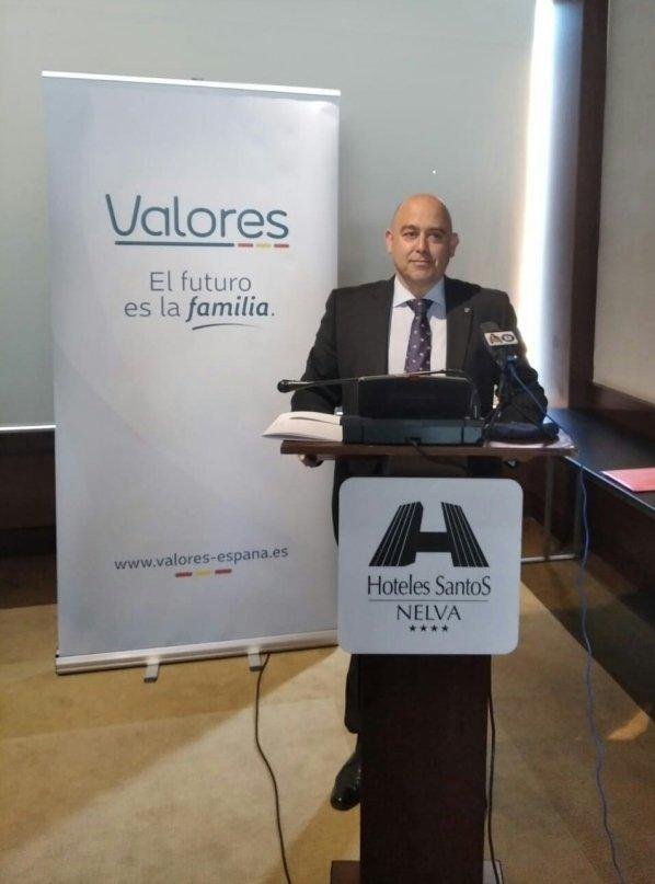"""Presentación de """"Valores"""", una de las escisiones de Vox, con su presidente Alfonso Galdón. Autor: captura de pantalla realizada el 22/12/2020 a las 06:37. Fuente: Twitter (@valores_espana)."""