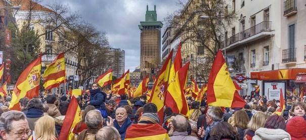 Manifestación en Madrid por la unidad de España en 2019. Autor: Carabo Spain. Fuente: Pixabay