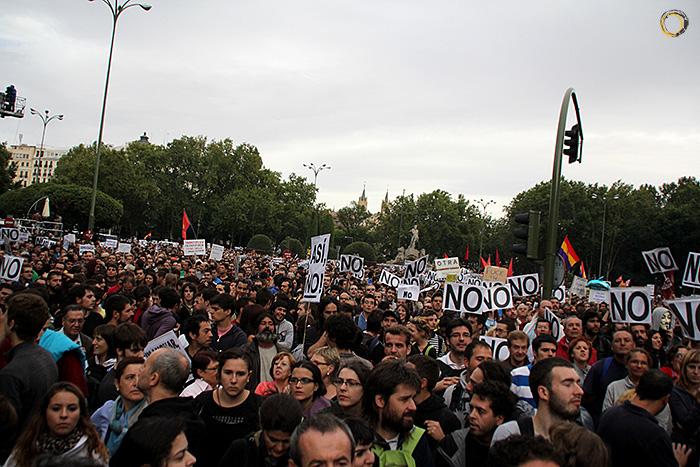 Imagen de la concentración del 25 de septiembre frente al Congreso de los Diputados en Madrid, España, el famoso 'Rodea el Congreso'
