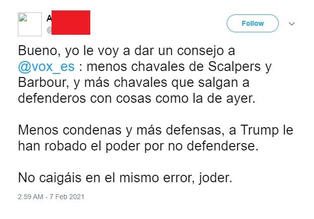Tuit borrado de Aleandro Perrera. Autor: Captura de pantalla realizada el 14/03/2021 a las 02:01h. Fuente: Caché de Google de Twitter