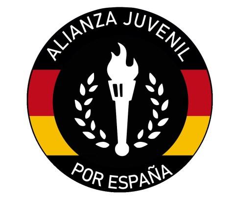 Logotipo del ficticio grupo neofascista Alianza Juvenil por España. Autor: Trabajo propio.