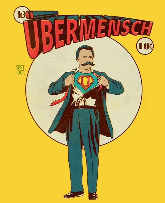 """Parodia de Nietzsche y su concepto de """"superhombre"""". Autor: Mitch Hell, 01/11/2011. Fuente: Flickr. (CC BY-ND 2.0)"""