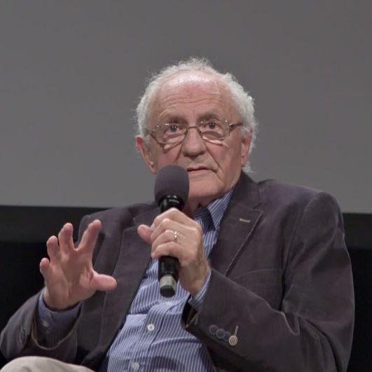 Zeev Sternhell durante una conferencia en 2016. Autor: Alexander Bohm, 01/10/2016. Fuente: Wikimedia Commons (CC BY-SA 4.0)