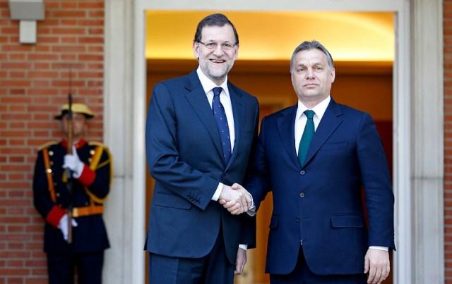 Visita de Viktor Orbán a Mariano Rajoy. Autor: Diego Crespo/Moncloa, 16/04/2013.  Fuente: Flickr (16/04/2013).