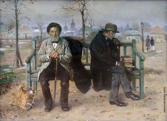 Un optimista y un pesimista, cuadro del pintorVladimir Makovsky, 1893