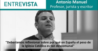 """Antonio Manuel: """"Deberíamos reflexionar sobre por qué en España el peso de la Iglesia Católica es tan descomunal"""""""