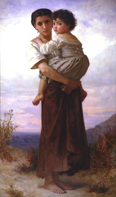 Imagen idealizada de una gitana y su hijo Autor: Willian Adolphe Bouguerau, 1879