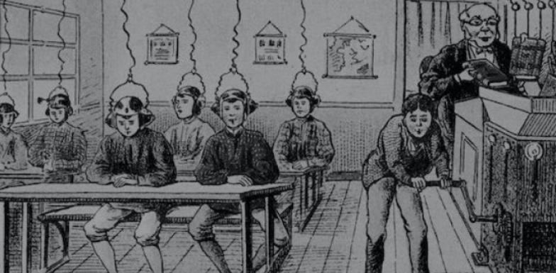Viñeta crítica a la forma de educar en el sistema actual. Autor: Françoise Foliot. Fuente: Marxistsociology.org (CC BY-SA 2.0)