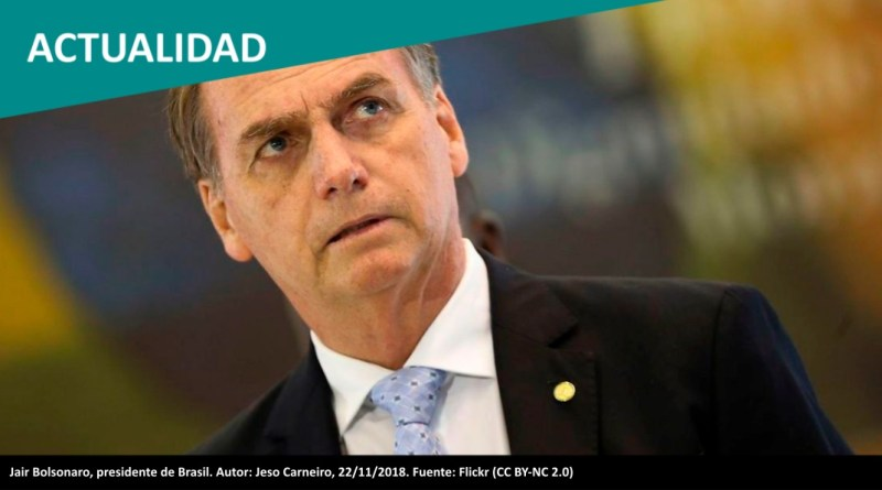 Jair Bolsonaro, presidente de Brasil. Autor: Jeso Carneiro, 22/11/2018. Fuente: Flickr (CC BY-NC 2.0)