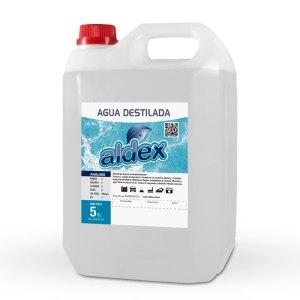 Agua destilada Aldex.