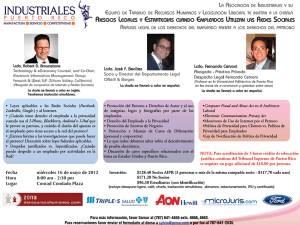 Industriales presentan seminario sobre redes sociales: los derechos del empleado frente a los derechos del patrono