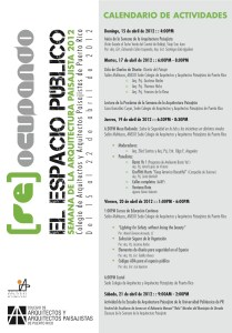 Semana de la Arquitectura 2012