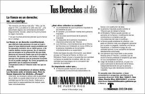 Criminalización del derecho a la fianza: memoria, criminalidad y política