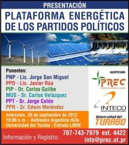 Presentación de plataformas energéticas de los partidos políticos de Puerto Rico