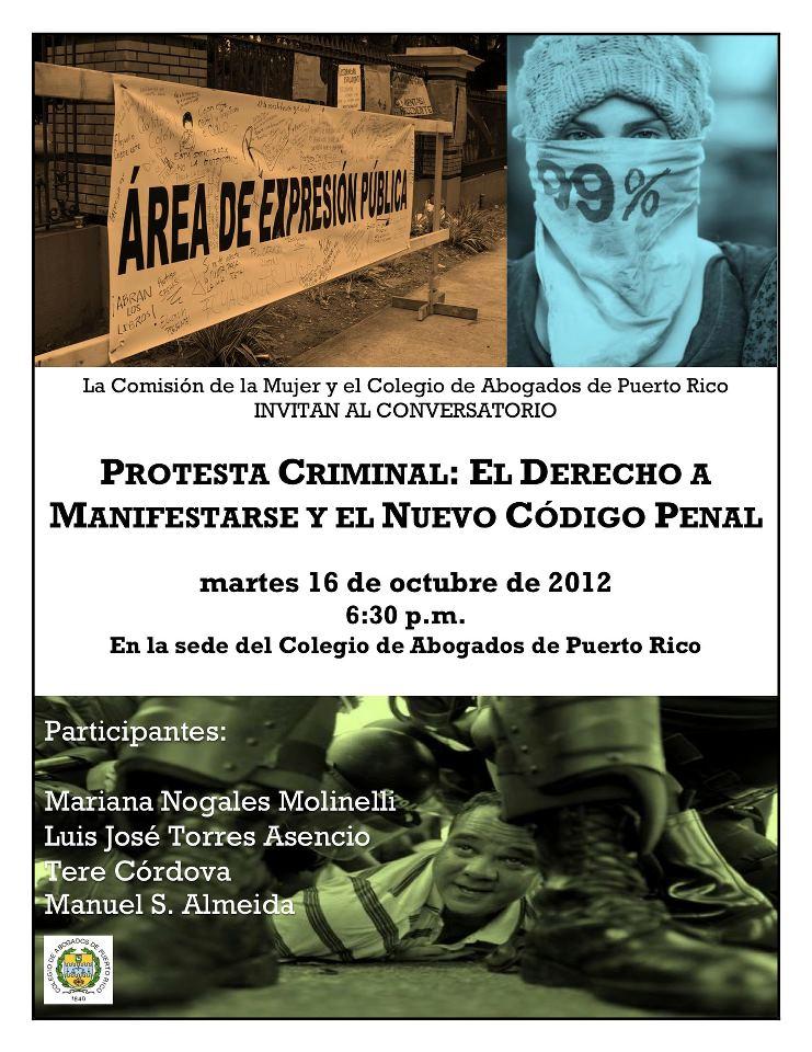 Protesta criminal: El derecho a manifestarse y el nuevo Código Penal de Puerto Rico