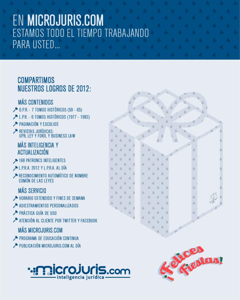 Microjuris al Día les desea felices fiestas 2012-2013
