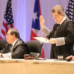 El Juez Presidente del Tribunal Supremo, Hon. Federico Hernández Denton, juramenta 182 nuevos juristas.
