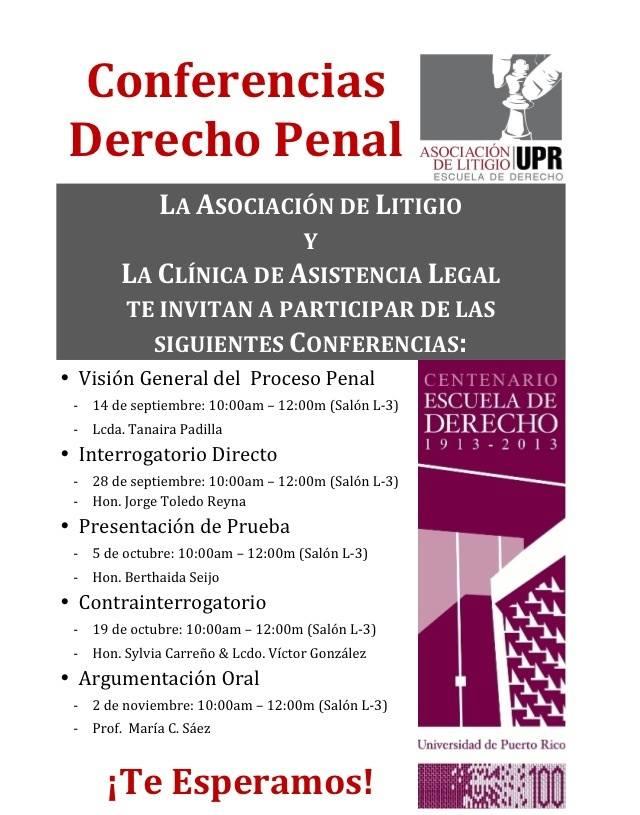 Asociación de Litigio - conferencias