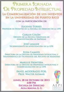 La comercialización de los inventos en la Universidad de Puerto Rico