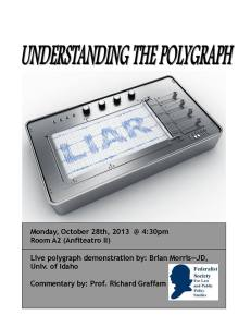 Entender el examen del polígrafo