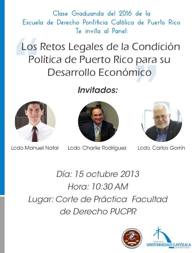 Los retos legales de la condición política de Puerto Rico para su desarrollo económico