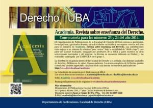Convocatoria Academia: Revista sobre enseñanza del Derecho