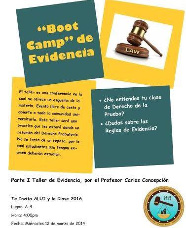 Boot Camp de Evidencia en la Inter Derecho