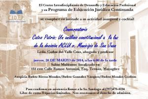 CATEO PATRIO: Análisis Constitucional a la luz de ACLU v San Juan