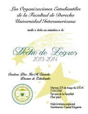 Inter Derecho celebra Noche de Logros 2014