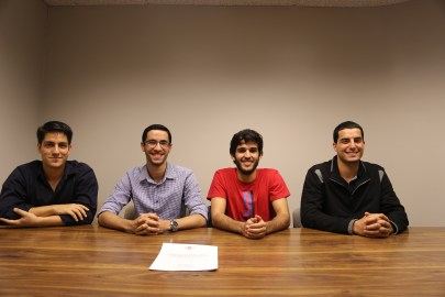 De izquierda a derecha: Carlos Carrión, André Palerm, Paul Cortés y William Sewell.