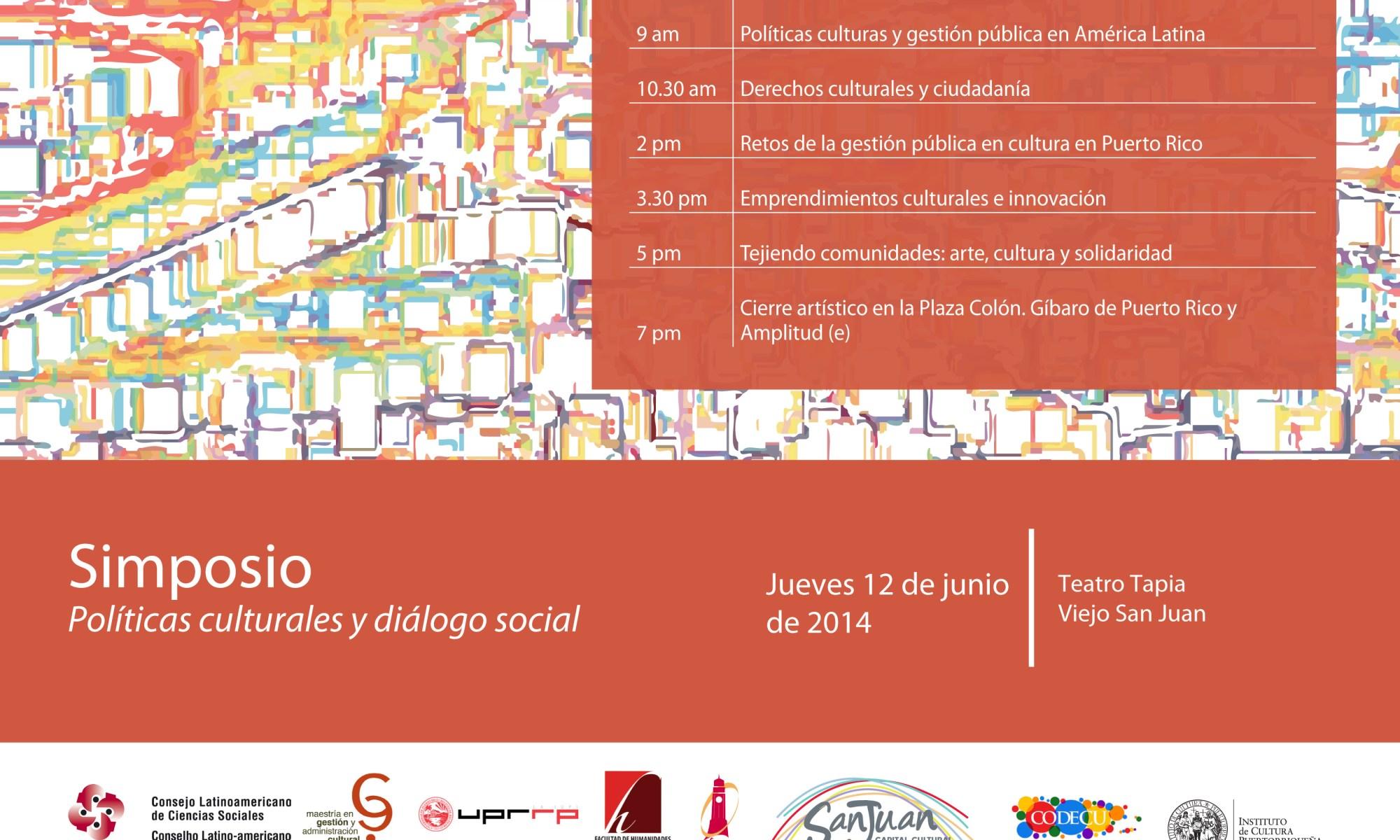 Simposio: Políticas culturales y diálogo social