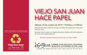 Viejo San Juan hace papel