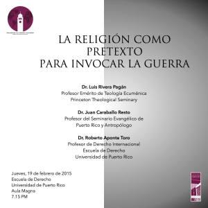 Religión como pretexto para invocar la guerra en Derecho UPR