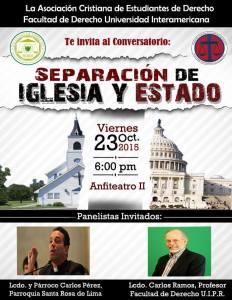 Conversatorio de separación de iglesia y estado en la Inter Derecho