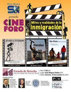 Pro Bono de Servicios de Orientación al Inmigrante convoca a cine foro sobre Mitos y realidades de la Inmigración