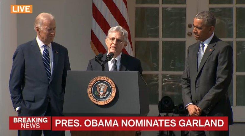 Obama anuncia al juez Merrick Garland como su candidato al Supremo federal